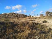 Il cielo di Sebastopoli del sole dell'estate della Crimea si appanna il viaggio Fotografia Stock