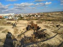 Il cielo di Sebastopoli del sole dell'estate della Crimea si appanna il viaggio Fotografia Stock Libera da Diritti