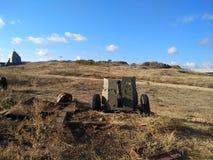Il cielo di Sebastopoli del sole dell'estate della Crimea si appanna il viaggio Immagine Stock