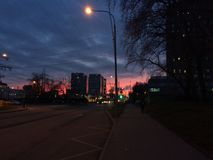 Il cielo di sera Fotografia Stock