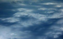 Il cielo girato assomiglia alla montagna in nuvole Fotografia Stock Libera da Diritti