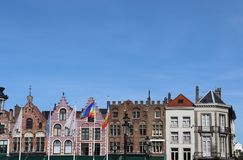 Il cielo-line di Bruges centrale immagine stock libera da diritti