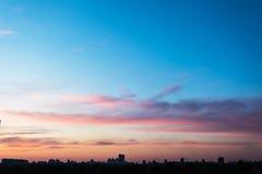 Il cielo nel rosa - colori porpora Fotografie Stock