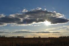 Il cielo nelle nuvole fotografia stock libera da diritti