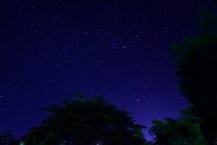 Il cielo notturno Fotografie Stock Libere da Diritti