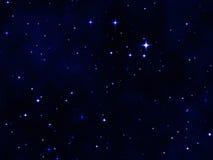Il cielo notturno della stella illustrazione vettoriale