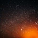 Il cielo notturno reale naturale Stars la struttura del fondo Immagini Stock