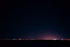 Il cielo notturno reale naturale Stars la struttura del fondo Fotografie Stock Libere da Diritti