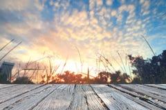 Il cielo perfetto con la nuvola ed alba in parco Immagine Stock