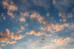 Il cielo si appanna il tramonto Immagini Stock Libere da Diritti