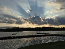 Il cielo si appanna l'ombra Fotografie Stock Libere da Diritti