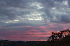 Il cielo sta bruciando Fotografia Stock