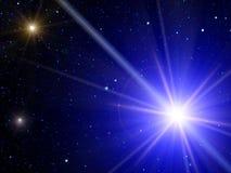 Il cielo stars la cometa fotografia stock