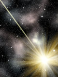 Il cielo stars la meteora della costellazione Fotografia Stock