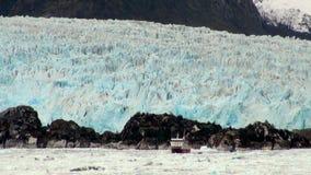 Il Cile - Amalia Glacier Landscape archivi video