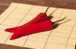 Il Cile rosso Fotografie Stock