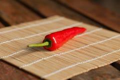 Il Cile rosso Fotografia Stock