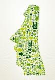 Il Cile va illustrazione verde di concetto Fotografia Stock