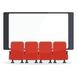 Il cinema presiede la parte anteriore della TV Fotografie Stock
