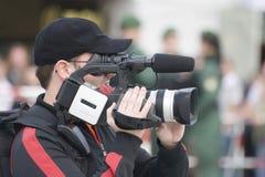 Il cineoperatore Fotografia Stock