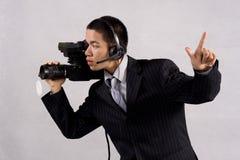 Il cineoperatore cattura uno immagini stock libere da diritti