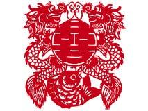 Il cinese documento-ha tagliato Immagini Stock Libere da Diritti