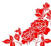 Il cinese documento-ha tagliato del fiore del peony illustrazione vettoriale