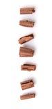 Il cioccolato arriccia III fotografia stock
