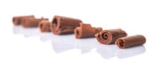 Il cioccolato arriccia la I immagine stock