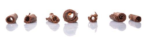 Il cioccolato arriccia la V Fotografia Stock