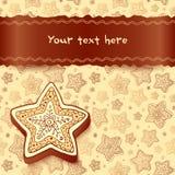 Il cioccolato di natale miele-agglutina la cartolina d'auguri Fotografia Stock