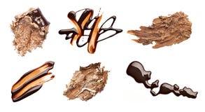 Il cioccolato e la fragola agglutinano il dessert dell'alimento della macchia della macchia Immagini Stock Libere da Diritti