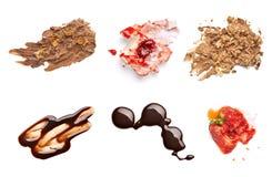 Il cioccolato e la fragola agglutinano il dessert dell'alimento della macchia della macchia Fotografie Stock