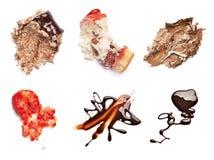 Il cioccolato e la fragola agglutinano il dessert dell'alimento della macchia della macchia Fotografie Stock Libere da Diritti