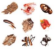 Il cioccolato e la fragola agglutinano il dessert dell'alimento della macchia della macchia Fotografia Stock