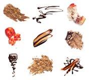 Il cioccolato e la fragola agglutinano il dessert dell'alimento della macchia della macchia Immagine Stock