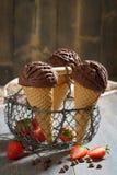 Il cioccolato ghiaccia Fotografie Stock