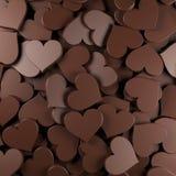 Il cioccolato heart Fotografie Stock Libere da Diritti