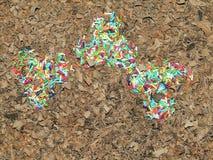 il cioccolato si sfalda e sudato spruzza Immagine Stock Libera da Diritti