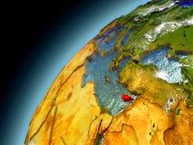 Il Cipro dall'orbita di Earth di modello Fotografia Stock Libera da Diritti