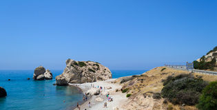 Il Cipro 2011 Roccia dell'Afrodite 1 Fotografie Stock Libere da Diritti
