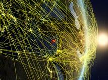 Il Cipro su pianeta Terra di reti immagini stock