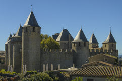 Il Cité de Carcassonne Fotografie Stock