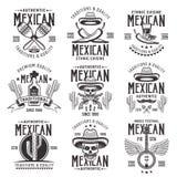 Il cittadino messicano attribuisce gli emblemi neri di vettore illustrazione vettoriale