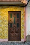 Il classico del Portogallo piastrella le porte storiche Immagine Stock