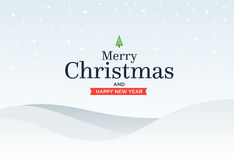 Il classico sposa il fondo di Natale con verde illustrazione vettoriale