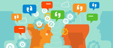 Il cliente di reclami parla la conversazione della bolla di conversazione Immagine Stock