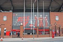Il club di calcio di Kop Liverpool immagine stock