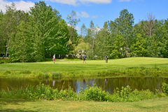 Il club di golf reale di Bromont Immagine Stock