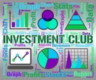 Il club di investimento indica l'unire ed il risparmio della crescita illustrazione vettoriale